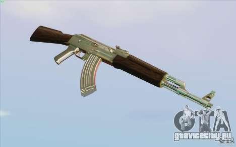 Low Chrome Weapon Pack для GTA San Andreas