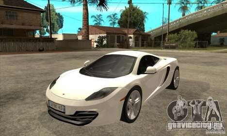 McLaren MP4 12c для GTA San Andreas