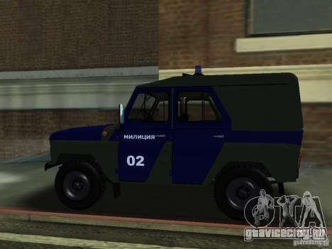 УАЗ 3151 Милиция для GTA San Andreas вид слева