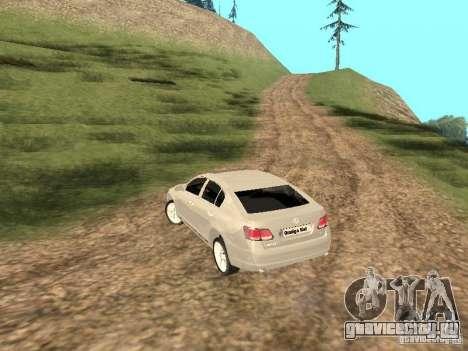 Lexus GS-350 для GTA San Andreas вид сзади слева