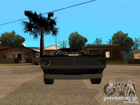 Plymouth Hemi Cuda Rogue Speed для GTA San Andreas вид справа