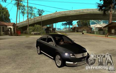 Volkswagen Passat 2.0 TDI Bluemotion 2011 для GTA San Andreas вид сзади
