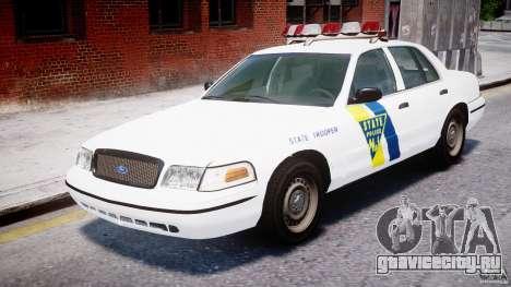 Ford Crown Victoria New Jersey State Police для GTA 4 вид слева