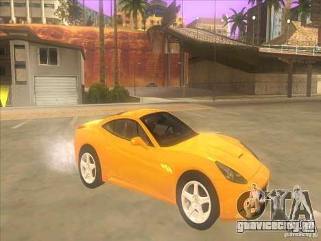 Ferrari California для GTA San Andreas вид слева