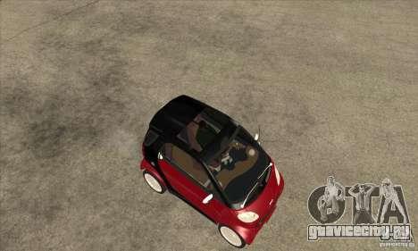Smart для GTA San Andreas вид сзади