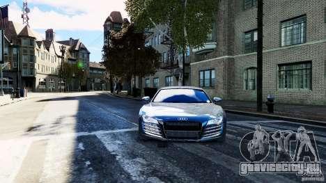 Audi R8 Spider 2011 для GTA 4 вид справа