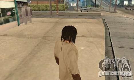Длинные тёмные волосы для GTA San Andreas второй скриншот