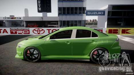 Mitsubishi Lancer Evolution X Tuning для GTA 4 вид сверху