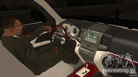 Lexus LX 570 для GTA San Andreas вид изнутри
