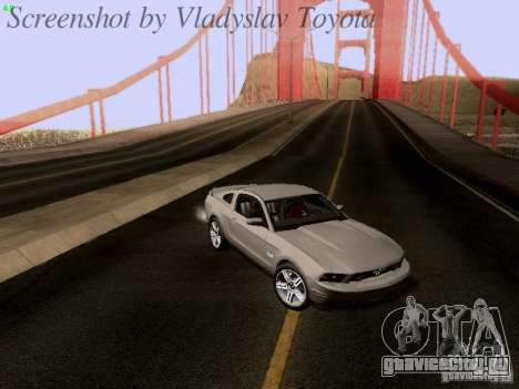 Ford Mustang GT 2011 для GTA San Andreas колёса