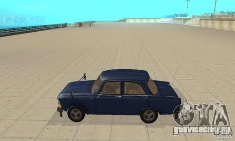 Москвич 412 с народным тюнингом для GTA San Andreas вид слева