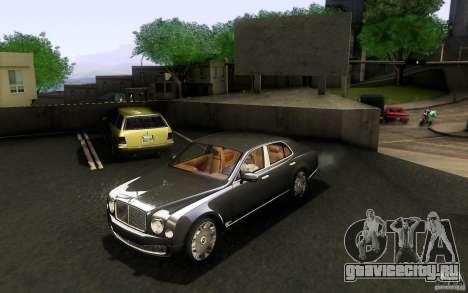 Bentley Mulsanne 2010 v1.0 для GTA San Andreas вид слева