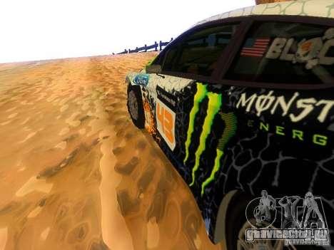 Ford Fiesta RS WRC 2012 для GTA San Andreas вид изнутри