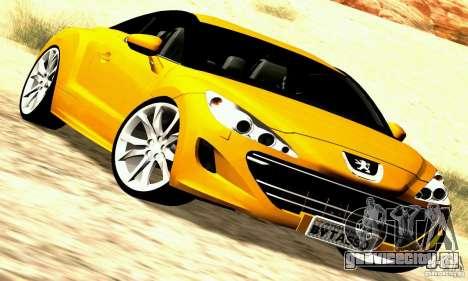 Peugeot Rcz 2011 для GTA San Andreas