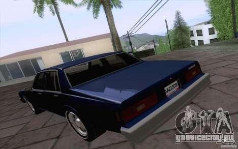 Chevrolet Caprice Clasico для GTA San Andreas вид сзади слева