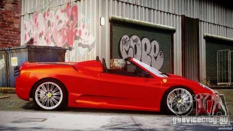 Ferrari F430 Scuderia Spider для GTA 4 вид сбоку