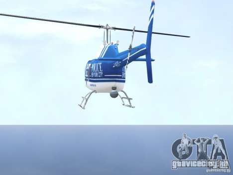 Bell 206 B - NYPD для GTA 4 вид снизу