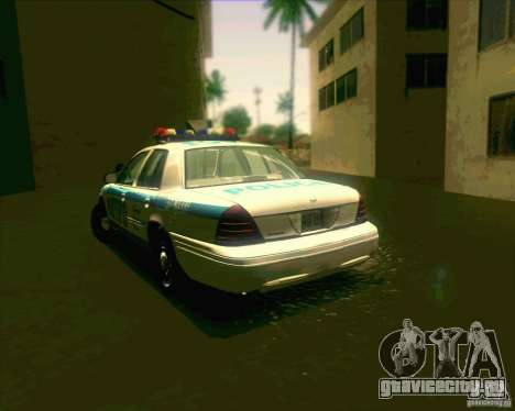 Ford Crown Victoria 2003 NYPD police V2.0 для GTA San Andreas вид сзади слева