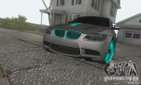 BMW M3 E92 Hellaflush v1.0 для GTA San Andreas вид сзади слева