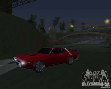 Plymouth Roadrunner для GTA San Andreas вид слева