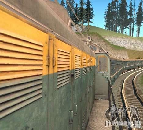 ТЭМ2 для GTA San Andreas вид сзади слева