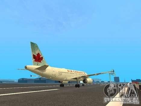 Airbus A319 Air Canada для GTA San Andreas вид справа