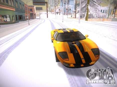 Ford GT для GTA San Andreas вид сзади