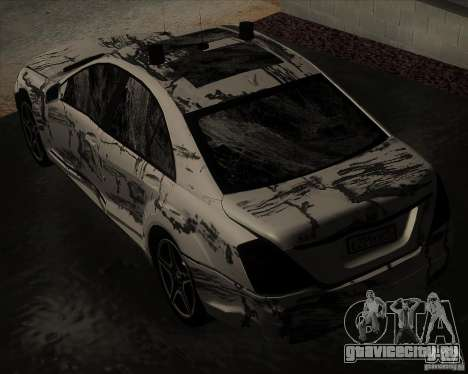 Mercedes-Benz S65 AMG W221 для GTA San Andreas вид сбоку