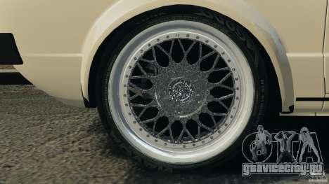 Volkswagen Golf Mk1 Stance для GTA 4 вид снизу