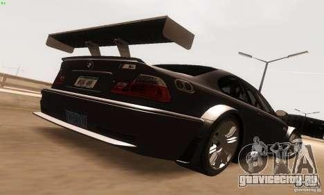 BMW M3 GTR для GTA San Andreas вид справа