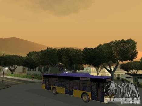 Троллейбус ЛАЗ Е-183 для GTA San Andreas вид слева