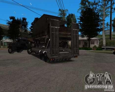 КрАЗ 255 + Прицеп artict2 для GTA San Andreas вид сбоку