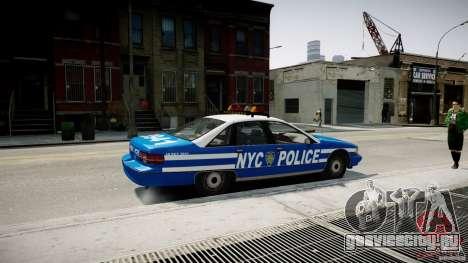 Chevrolet Caprice 1991 NYPD для GTA 4 вид слева