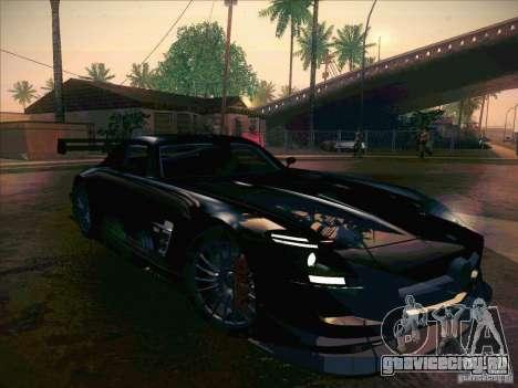 Mercedes-Benz SLS AMG GT-R для GTA San Andreas вид изнутри