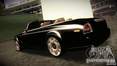 Rolls Royce Phantom Drophead Coupe 2007 V1.0 для GTA San Andreas вид сзади слева