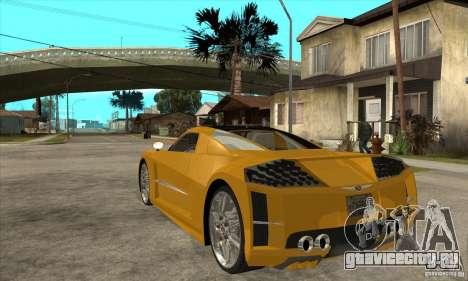 Chrysler ME Four-Twelve Concept для GTA San Andreas вид сзади слева