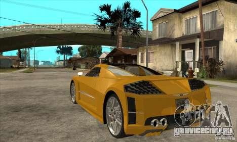 Chrysler ME Four-Twelve Concept для GTA San Andreas вид сзади слева
