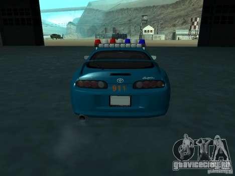 Toyota Supra California State Patrol для GTA San Andreas вид изнутри