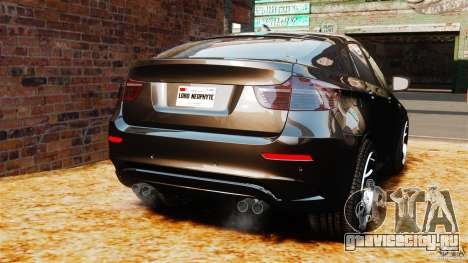 BMW X6 M 2010 для GTA 4 вид сзади слева