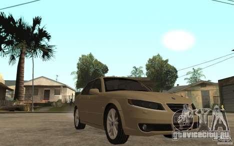 Saab 9-5 для GTA San Andreas вид сзади