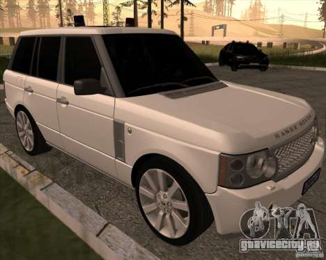 Land Rover Range Rover Supercharged для GTA San Andreas вид слева