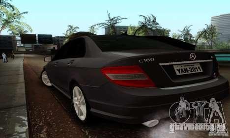 Mercedes-Benz C180 для GTA San Andreas вид сзади слева