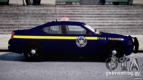 Dodge Charger NY State Trooper CHGR-V2.1M [ELS] для GTA 4 вид сбоку