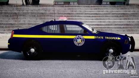 Dodge Charger NY State Trooper CHGR-V2.1M [ELS] для GTA 4 вид сбоку