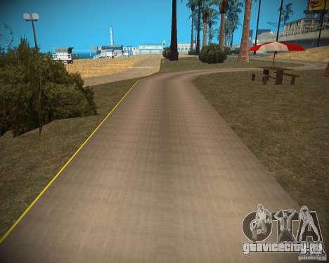 New textures beach of Santa Maria для GTA San Andreas седьмой скриншот