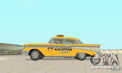 Chevrolet Bel Air 4-door Sedan Taxi 1957 для GTA San Andreas вид сзади