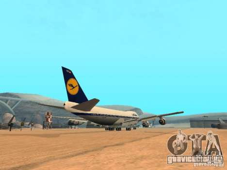 Boeing 747-100 Lufthansa для GTA San Andreas вид справа