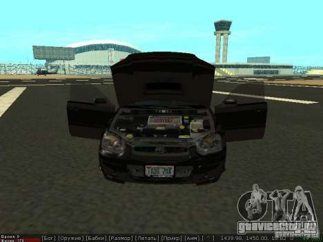 Subaru Impreza WRX для GTA San Andreas вид справа