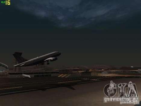 Airbus A319 United Airlines для GTA San Andreas вид изнутри