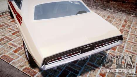Dodge Challenger 1971 RT для GTA 4 двигатель